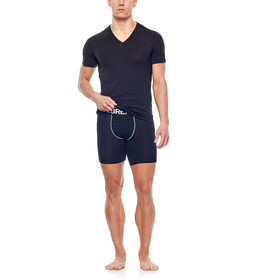 Icebreaker Anatomica Zone Long Boxers Men black/white